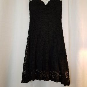 San Souci Black Lace Dress S